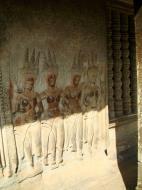 Asisbiz Angkor Wat Khmer architecture bas relief devatas Siem Reap 70
