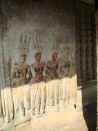 Asisbiz Angkor Wat Khmer architecture bas relief devatas Siem Reap 71