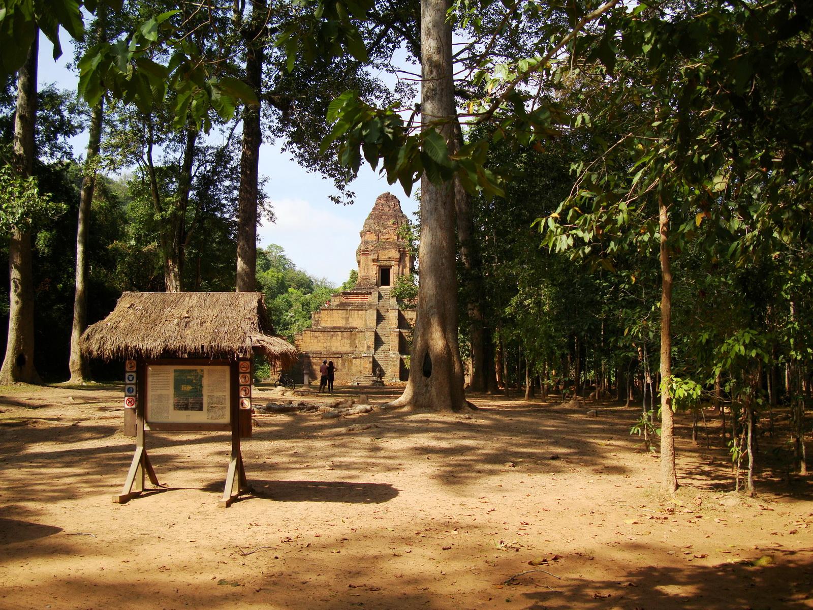 A Baksei Chamkrong Temple Angkor Sign board Jan 2010 03