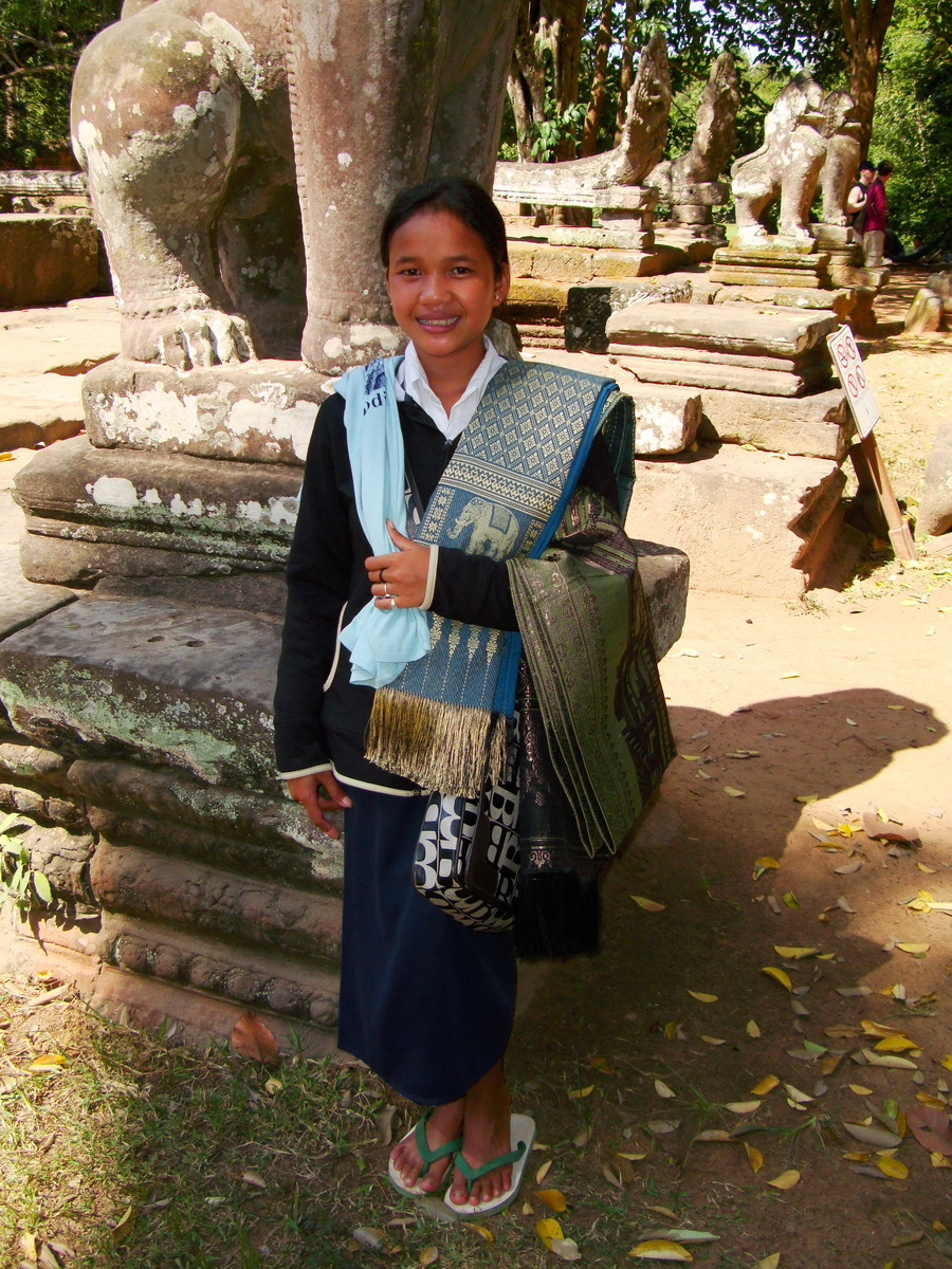 A Banteay Kdei Temple most gifted sales person I ever meet 01