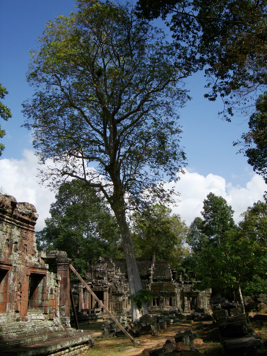 D Banteay Kdei Temple central sanctuary enclosure 08