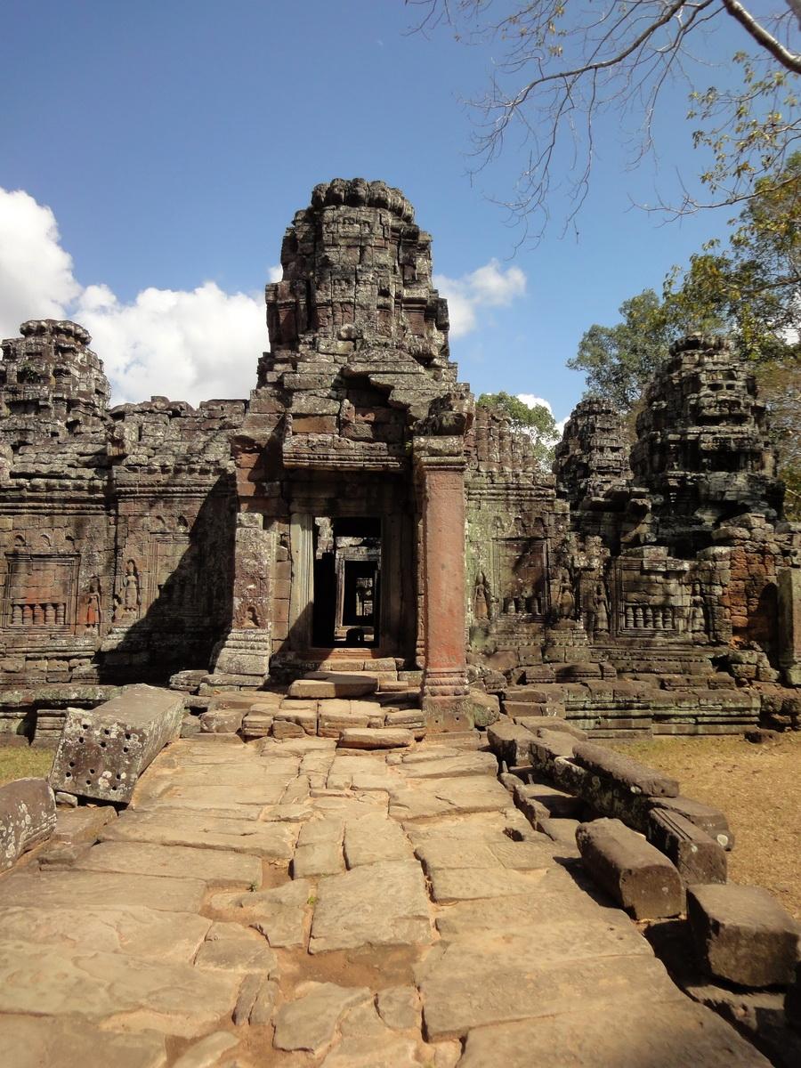 D Banteay Kdei Temple main enclosure inner passageways 01