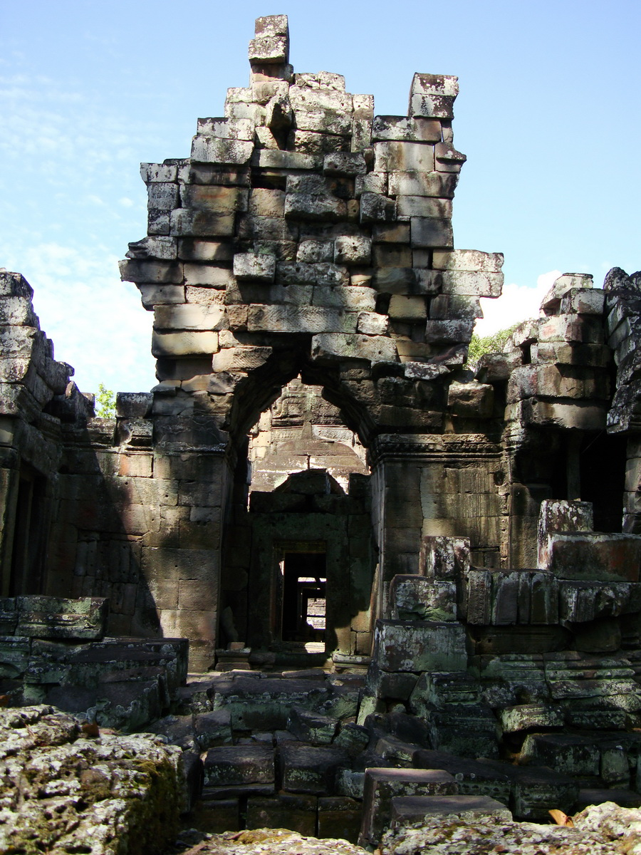 D Banteay Kdei Temple main enclosure inner passageways 12