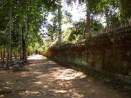 Asisbiz A Banteay Kdei Temple Gopura IV E Bayon style laterite walls 02
