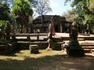 Asisbiz B Banteay Kdei Temple terrace with naga balustrade Angkor Jan 2010 02