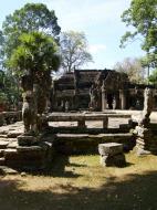Asisbiz B Banteay Kdei Temple terrace with naga balustrade Angkor Jan 2010 03