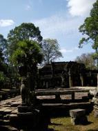 Asisbiz B Banteay Kdei Temple terrace with naga balustrade Angkor Jan 2010 04