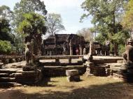 Asisbiz B Banteay Kdei Temple terrace with naga balustrade Angkor Jan 2010 05