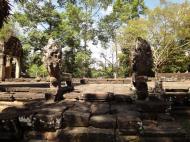 Asisbiz B Banteay Kdei Temple terrace with naga balustrade Angkor Jan 2010 06