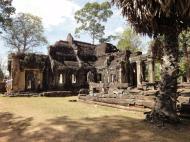 Asisbiz B Banteay Kdei Temple terrace with naga balustrade Angkor Jan 2010 07