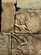 Asisbiz C Banteay Kdei Temple hall of dancers Bas relief dancing apsaras 01