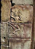 Asisbiz C Banteay Kdei Temple hall of dancers Bas relief dancing apsaras 02