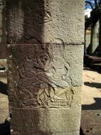 Asisbiz C Banteay Kdei Temple hall of dancers Bas relief dancing apsaras 05