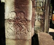 Asisbiz C Banteay Kdei Temple hall of dancers Bas relief dancing apsaras 07