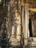 Asisbiz C Banteay Kdei Temple hall of dancers Bas relief deva 04