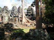 Asisbiz D Banteay Kdei Temple Gopuram Western Entry towers Angkor 04