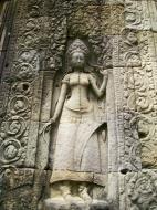 Asisbiz D Banteay Kdei Temple main enclosure Bas relief devas 01