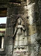 Asisbiz D Banteay Kdei Temple main enclosure Bas relief devas 02