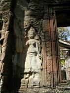 Asisbiz D Banteay Kdei Temple main enclosure Bas relief devas 03