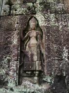 Asisbiz D Banteay Kdei Temple main enclosure Bas relief devas 04