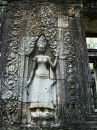 Asisbiz D Banteay Kdei Temple main enclosure Bas relief devas 05