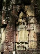 Asisbiz D Banteay Kdei Temple main enclosure Bas relief devas 06