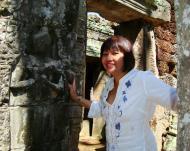Asisbiz D Banteay Kdei Temple main enclosure Bas relief devas 08