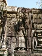 Asisbiz D Banteay Kdei Temple main enclosure Bas relief devas 10
