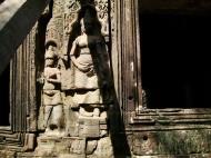 Asisbiz D Banteay Kdei Temple main enclosure Bas relief devas 13