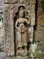 Asisbiz D Banteay Kdei Temple main enclosure Bas relief devas 15