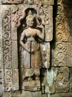 Asisbiz D Banteay Kdei Temple main enclosure Bas relief devas 16