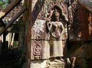 Asisbiz D Banteay Kdei Temple main enclosure Bas relief devas 17