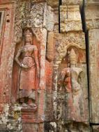Asisbiz D Banteay Kdei Temple main enclosure Bas relief devas 18