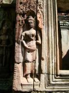 Asisbiz D Banteay Kdei Temple main enclosure Bas relief devas 20