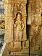 Asisbiz D Banteay Kdei Temple main enclosure Bas relief devas 21