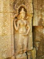 Asisbiz D Banteay Kdei Temple main enclosure Bas relief devas 22