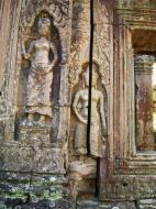 Asisbiz D Banteay Kdei Temple main enclosure Bas relief devas 24