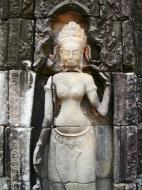 Asisbiz D Banteay Kdei Temple main enclosure Bas relief devas 26
