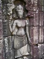 Asisbiz D Banteay Kdei Temple main enclosure Bas relief devas 27