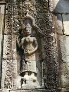 Asisbiz D Banteay Kdei Temple main enclosure Bas relief devas 28
