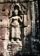 Asisbiz D Banteay Kdei Temple main enclosure Bas relief devas 29