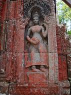 Asisbiz D Banteay Kdei Temple main enclosure Bas relief devas 30