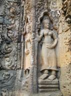 Asisbiz D Banteay Kdei Temple main enclosure Bas relief devas 31