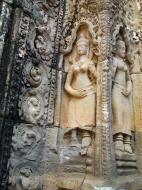 Asisbiz D Banteay Kdei Temple main enclosure Bas relief devas 32