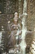 Asisbiz D Banteay Kdei Temple main enclosure Bas relief devas 35
