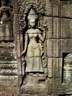 Asisbiz D Banteay Kdei Temple main enclosure Bas relief devas 38