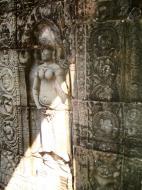 Asisbiz D Banteay Kdei Temple main enclosure Bas relief devas 39
