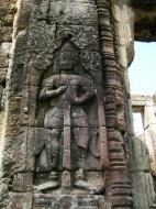 Asisbiz D Banteay Kdei Temple main enclosure Bas relief guardian 02