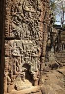 Asisbiz D Banteay Kdei Temple sanctuary outer wall Bas reliefs 05