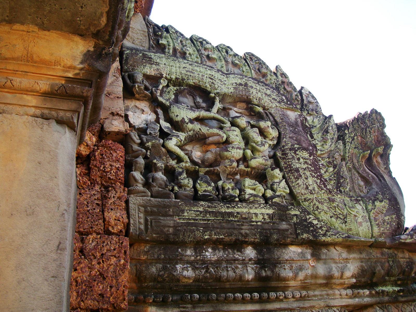Banteay Samre Temple Bas reliefs East Baray Jan 2010 05